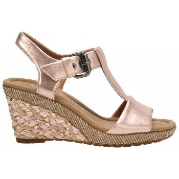 . The micro-fibre linings of the Gabor Karen cushion the foot and make every step feel light and dreamy. A 6.5cm weave covered heels add a feminine finish to these sandals and grant them a boost in height. The latex rubber soles that these shoes rest upon provide traction and security underfoot. http://www.marshallshoes.co.uk/womens-c2/gabor-womens-karen-rose-t-bar-sandals-42-824-64-p3452
