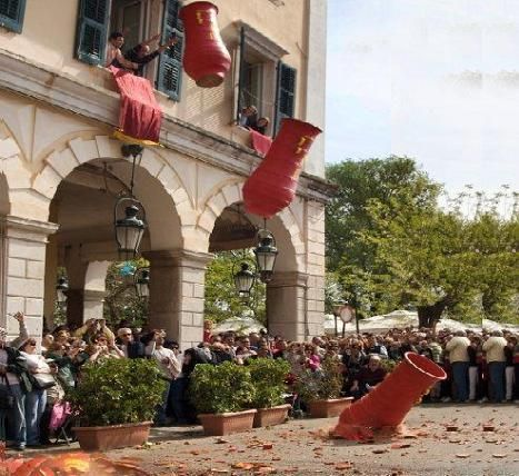#Easter is the greatest orthodox holiday in #Greece and therefore Greeks celebrate it in all its glory. In #Corfu, people throw ceramic bottles off their balconies, offering an exciting spectacle to the crowds flocking to Liston!