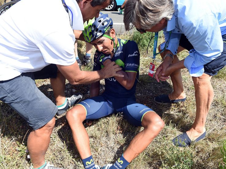 Vuelta a Espana stage 11 gallery Quintana came off badly, fracturing his shoulder and abandoning after a second crash in as many days