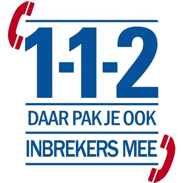 112 Daar pak je ook inbrekers mee