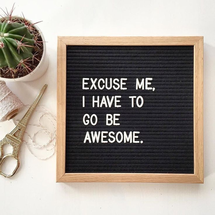 """""""Excuse me, I have to go be awesome."""" The Letterfolk Poet Oak is an elegant and versatile letter board. Ideal for succinct messages, this square letterboard can be hung on the wall, leaned on a side table, or easily transported and used as a photography prop."""