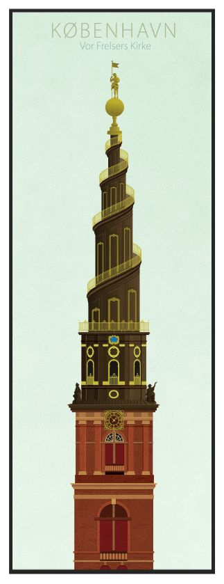 Vor Frelser Kirke plakat - Køb online hos Permild & Rosengreen