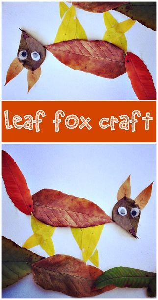 Leaf Fox Craft #Fall craft for kids | CraftyMorning.com