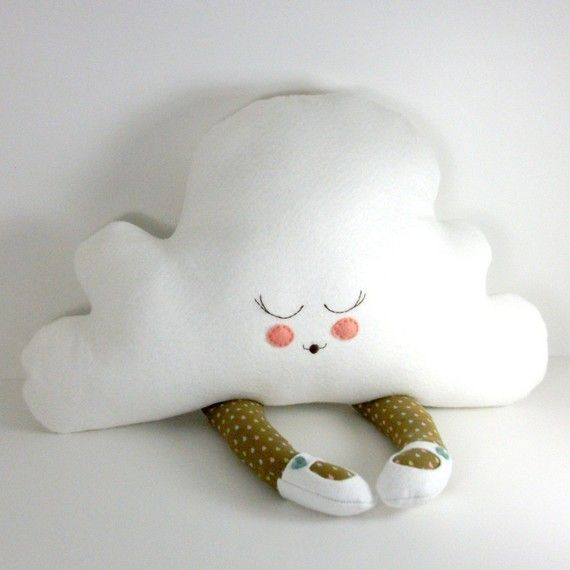 Made of incredibly soft bamboo felt, this sweet cloud is perfect as a doll for hugging and squeezing or as a nap-time pillow for some light and