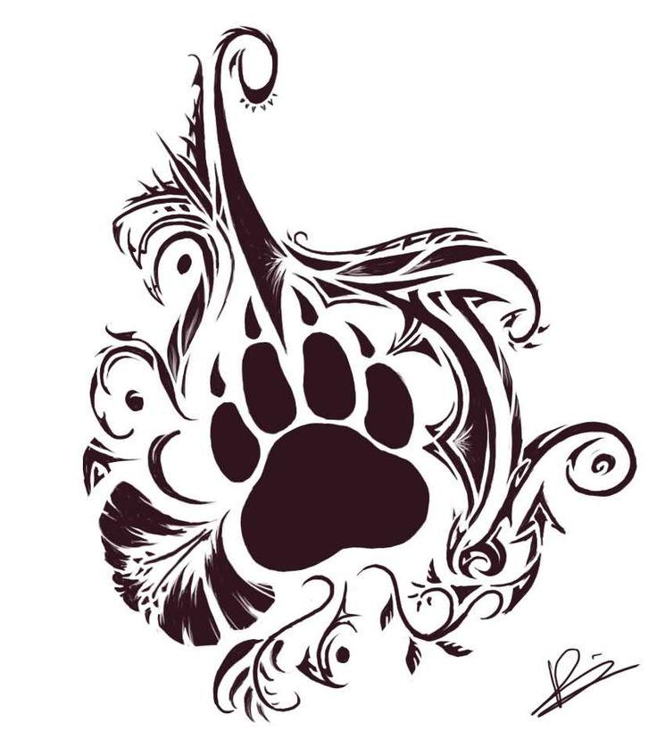 Bear Paw And Tribal Tattoos