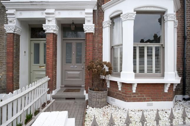 Full details on Modern Country Style blog: Swedish/French Style Victorian House Tour...front door in Dulux Chalky Downs