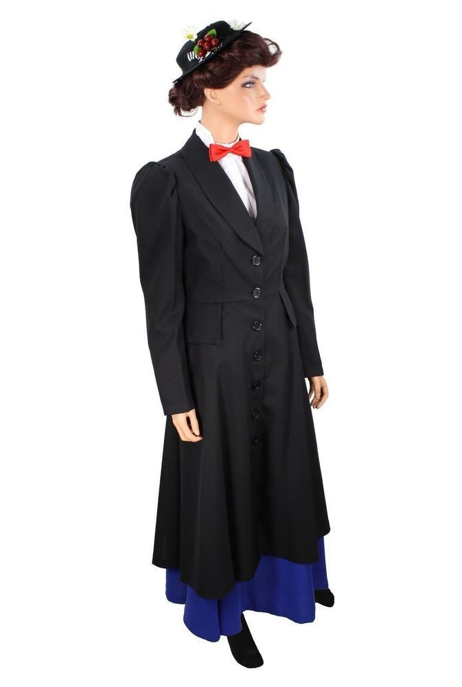 English Nanny Mary Poppins Inspired Plus Size Costume