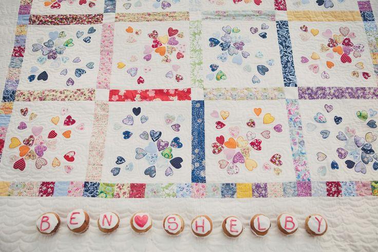 beautiful wedding quilt