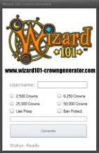 Visit our site http://www.wizard101-crowngenerator.com for more information on Wizard101 Crown Generator. Wizard101 crown generator targets young players between the ages of 12-16 years old. We took action and made this crown generator possible. By using our wizard101 crown generator, you'll never get banned. We made sure to implement various security features such as proxies so your accounts will be safe.