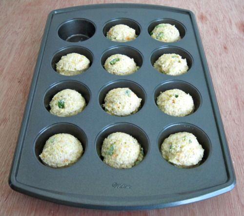 Muffin Monday: Jalapeno Cheddar Parmesan Cornbread Muffins