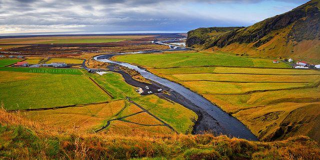 Skogar from above (Iceland)