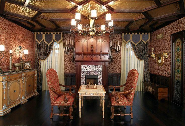 Interior design trends 2017: Gothic living room – HOUSE INTERIOR  #living #livingroom #room #decor #decoration #homedecor #homedesign #interiordesign #interior #gothic