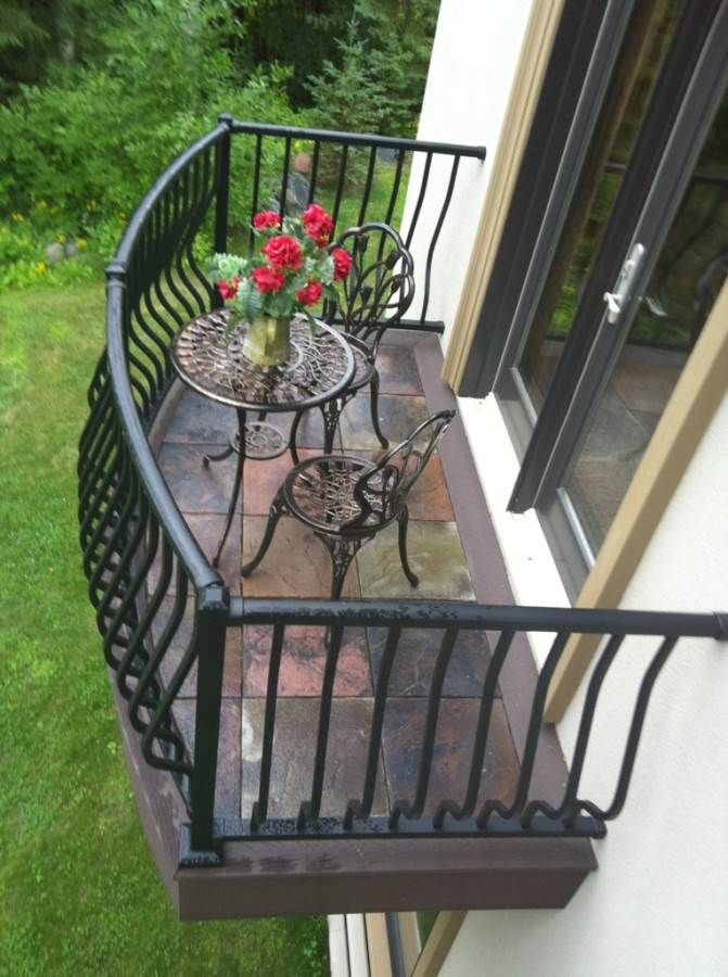 A charming elegant italian balcony dektek tile an for Outside decking material