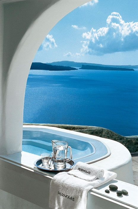 Perivolas Hotel..Santorini, Greece - Been to Greece. Spent a month there but would love to visit this!
