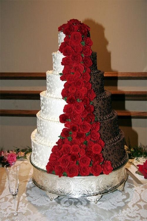 chocolate and red wedding cakes - Google Search