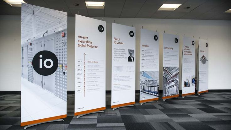 80cm modern banner stands used at launch event for major technology company.