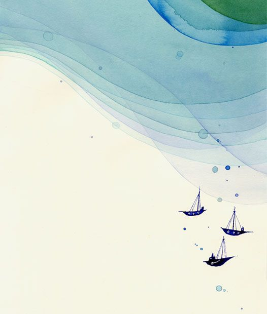 This inspired my Tumblr background! I love this so much. #nomoco #watercolor #ocean #wave