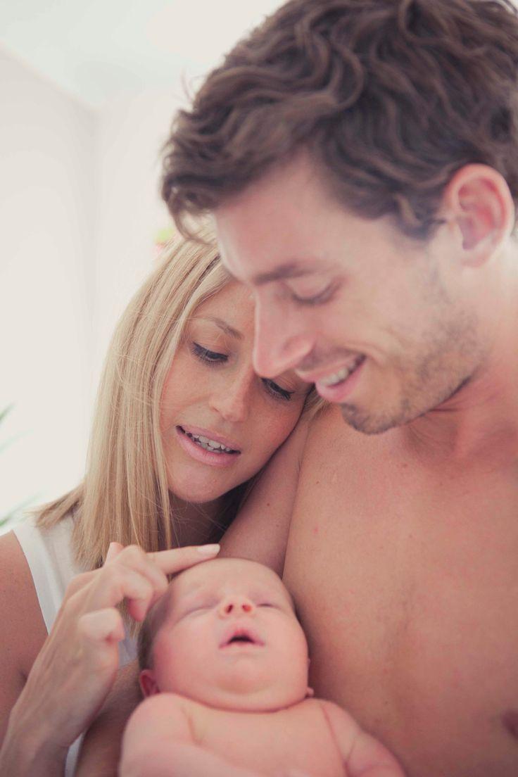 Family with newborn photos