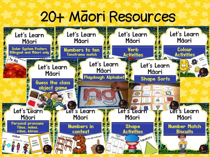 Te Reo Māori lessons and activities for Primary School New Zealand Teaching