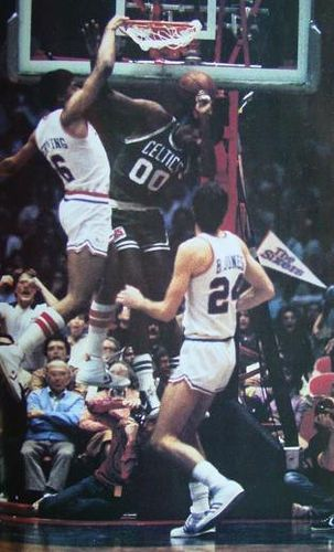 Julius erving aka dr j dunks on robert parrish peach for Classic house follow me