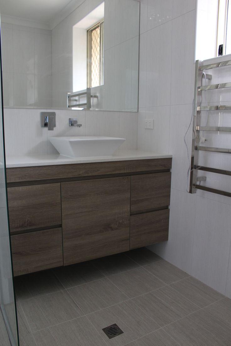 Wall Hung - Wood Grain 1200mm   Bathroom Renovation Shelley  On the Ball Bathrooms