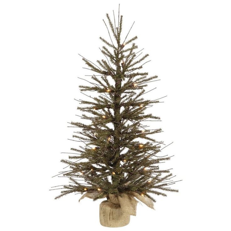"Clear White LED 24"" Plastic Small Artificial Christmas Tree Slim Home Decoration #PlasticSmallArtificialChristmasTree"