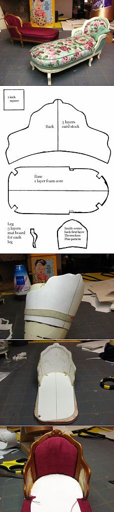 Master-class on making the couch for dolls