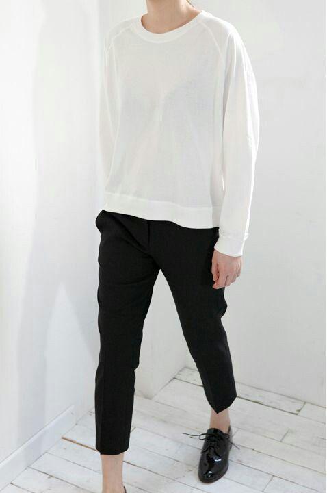 .White pullover.