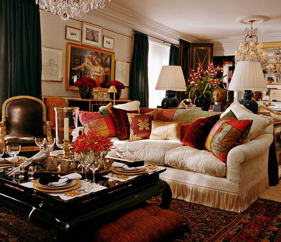 RL's home designs are always so elegant and ornate. This interior is over-the-top in a wonderful way.