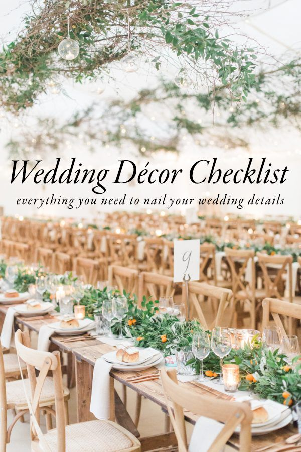 Use This Wedding Décor Checklist to Help You Nail Every Detail | Photo by Amy Fanton Photography