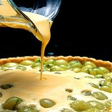 Gooseberry and Creme Fraiche Tart
