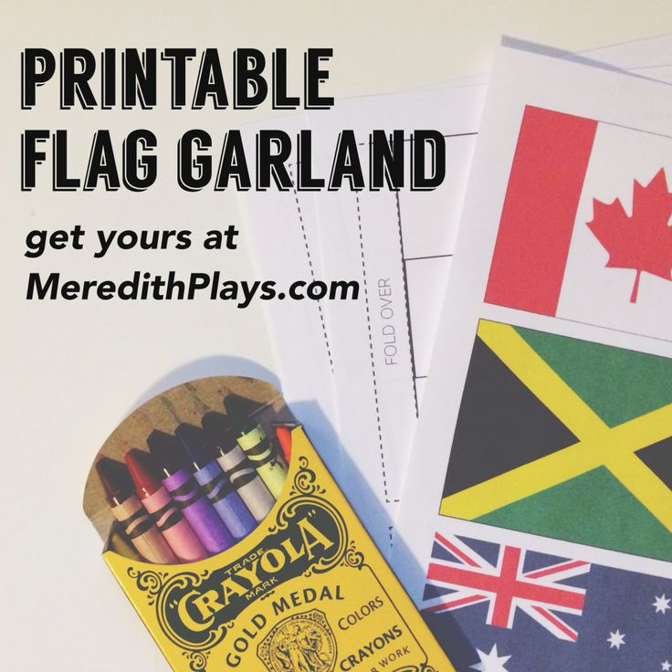 Printable flag garland to get your house in the Olympic spirit