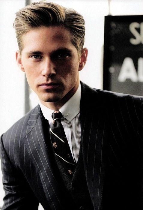 Pinstripe Suit Mens Fashion