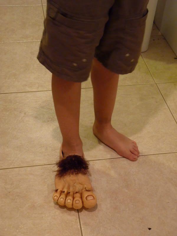 DIY Hobbit Feet