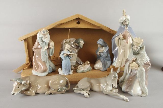 Lladro Nativity Set : Lot 392     Sold in 2013 for $600