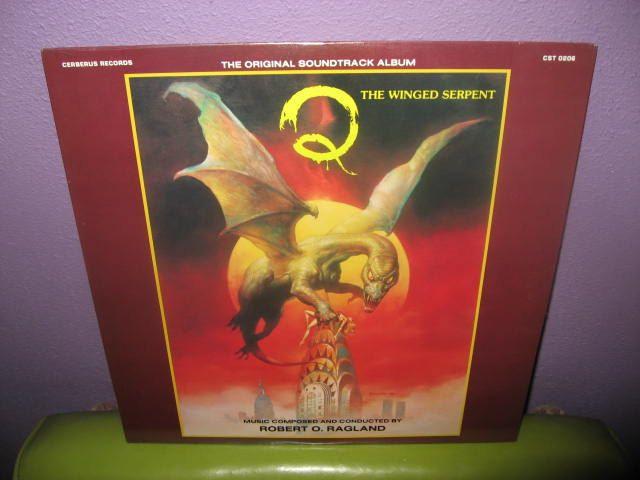 Rare Vinyl Record Q The Winged Serpent Original Soundtrack LP 1983 Sci-Fi Robert O. Ragland