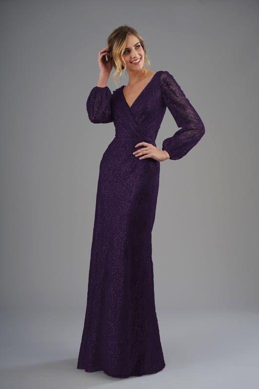 9e3e923b60c B203062 V-neck Brushed Sequin Long Bridesmaid Dress