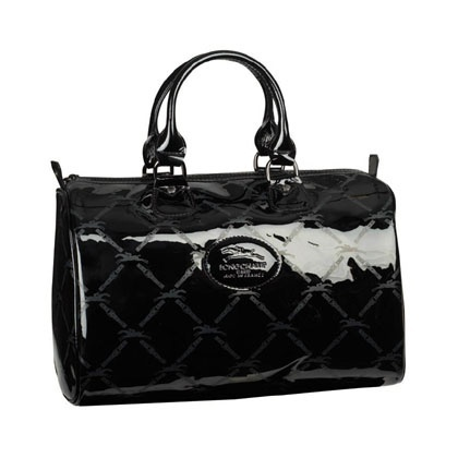 77c7ed6d61 sac longchamp noir vernis,sac loewe longchamp gatsby noir cuir verni ...