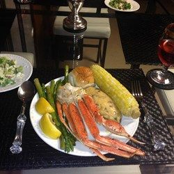 I ended up getting some snow crab legs on sale at the market. I wanted something a little different from plain steamed, boiled, or grilled crab legs, so I ended up throwing a few things together to make this awesome crab leg dish. Enjoy! This would be great with shrimp as well.