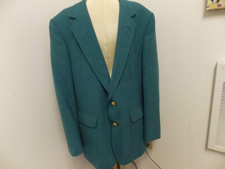 VTG Mens Hardwick Clothes for McFalands of Marco Green 2 Button Blazer 42R USA #HardwicksClothes #TwoButton