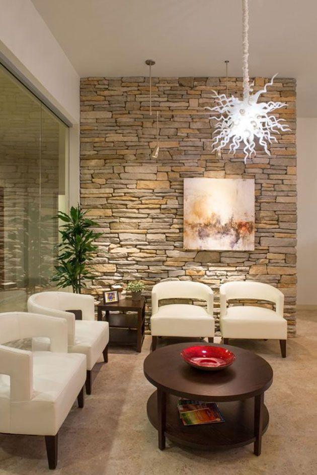 Paredes de piedra decorativa para interior 30 fotos e - Paredes decoradas modernas ...