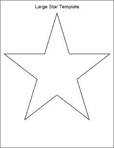 Printable Star Template and many others from bingo cards to weekly schedules