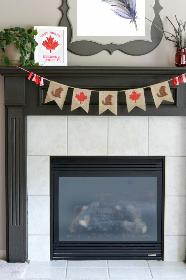 Celebrate Canada Day this year with an easy to make DIY patriotic decor project: Canada Day Bunting with a free printable template.