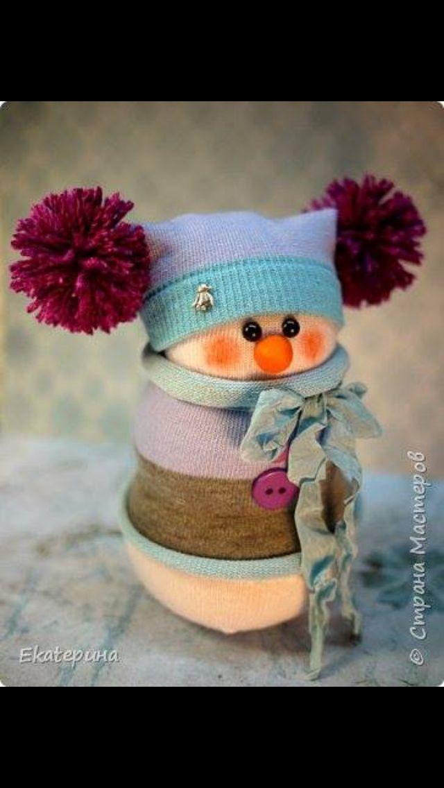 exemple 2 de bonhomme de neige avec chaussette christmas ideas pinterest. Black Bedroom Furniture Sets. Home Design Ideas