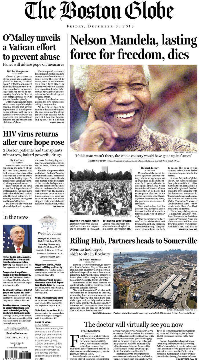 Mandela's death on December 5, ...