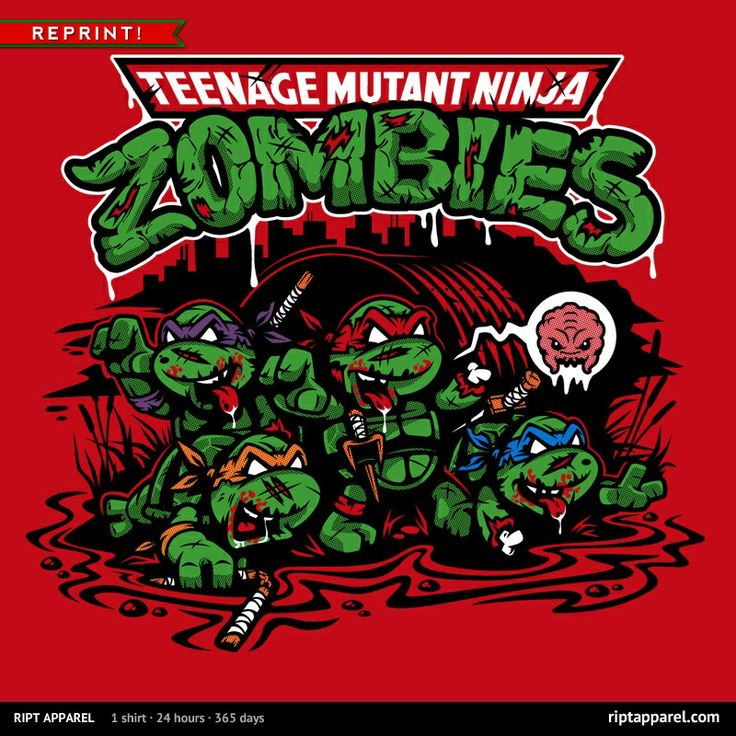 KRRAAAANGS T-Shirt $10 TMNT zombie tee at RIPT today only!