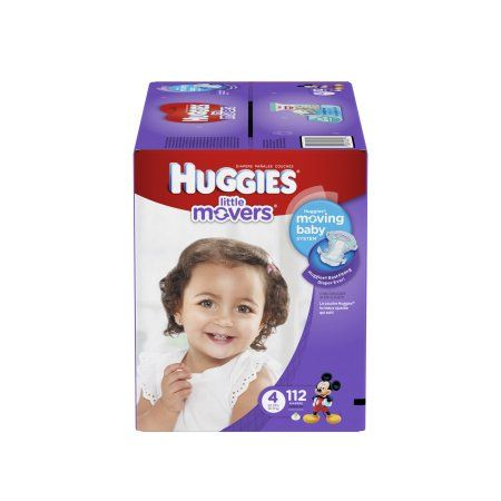 Huggies Little Movers Diapers Size 4 - 112 CT