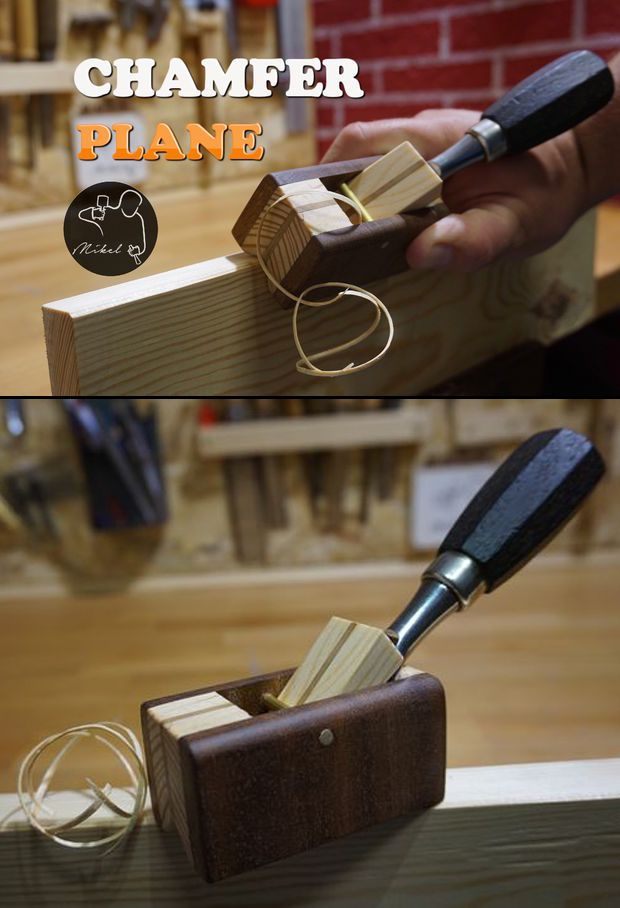In this Instructable I want to show you how to build your own hand plane but with the particularity that it's made to be used with a chisel. Its utility is to chamfer the corners of the wood. This tool can be made with electric tools, but one again as usual I have decided to make it only 100% with hand tools.