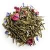 THE DES SOURCES    Thé vert parfumé (+thé glacé)  Réf D857    Pochette de 100g, 6,00€  Création exclusive du Palais des Thés, le Thé des Sources est un mélange d'un très beau thé vert de Chine, de bergamote et de feuilles de menthe.