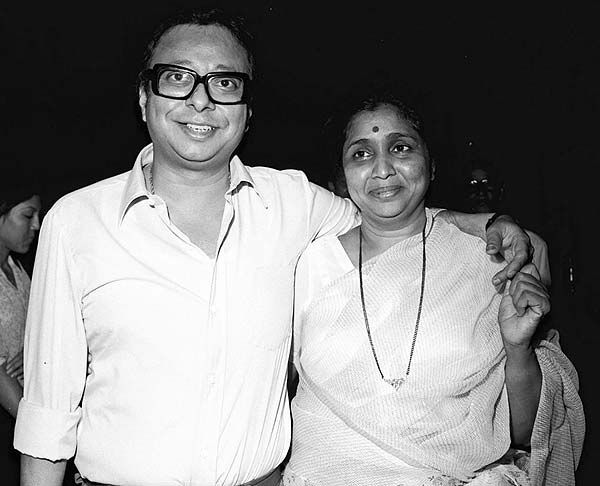 RD Burman with Asha Bhonsle - miss melody meets the master of melodies.
